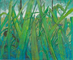"Fishing For Gar II: mixed media on canvas mixed media 16""x 20"""